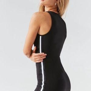 UO Ponte Side Stripe Bodycon Dress